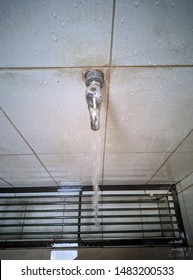 Ablution water tap opens in the mosque