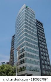 ABN AMRO Bank Headquarters Building At Gustav Mahlerplein Amsterdam The Netherlands 2018