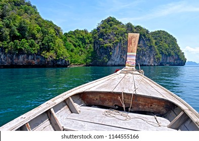 Aboard a long tail boat off Koh Lading in the Andaman Sea