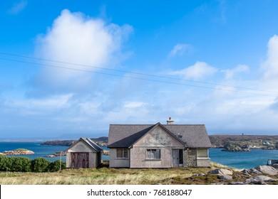 Abondened house on Cruit Island.  Derelect. Ireland, Irish, Donegal.