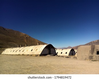 Abondoned facility from the 60's in the middle of the Andes Mountains