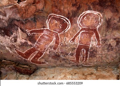 Aboriginal Art, the Jarnem walk ,Keep River National Park, Northern Territory, Australia