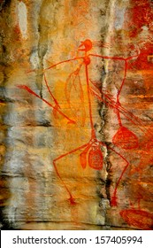 Aboriginal rock art, Kakadu National Park, Northern Territory, Australia
