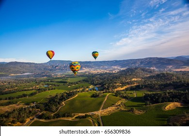 About to fly - Hot Air Balloon Trip in Napa Valley, California USA