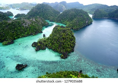 About karst stones in the Misool Sea, Raja Ampat, West Papua, Indonesia