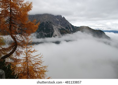 Above the clouds on the Dolomiti