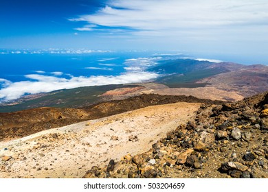 Above the clouds view from Teide