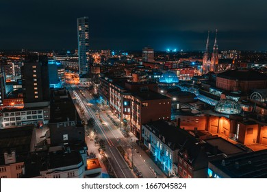 Above Eindhoven City at Night