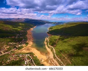 Above  Mavrovo Lake in Macedonia