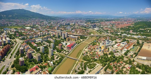 Above Skopje City the Capitol City of Macedonia