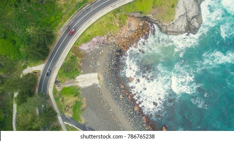above view along the sea cliff at the Coal cliff, Sydney, Australia