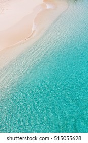 above view at picture perfect caribbean beach at anguilla island