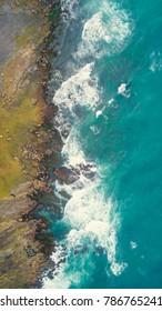 above view of sea near Coal cliff, Sydney, Australia