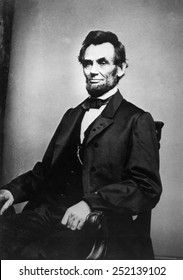 Abraham Lincoln (1809-1865), photograph by Mathew Brady