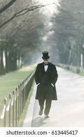 Abraham Lincoln Character At The National Mall