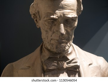 Abraham Lincoln in serious contemplation