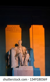 Abraham Lincoln Statue at sunrise
