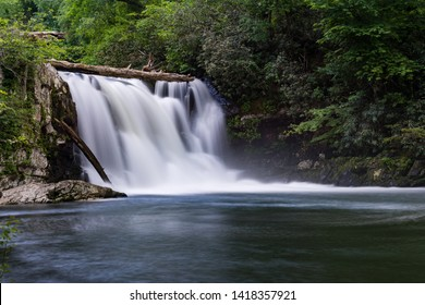Abrams Falls located in the Great Smoky Mountains National Park in Spring
