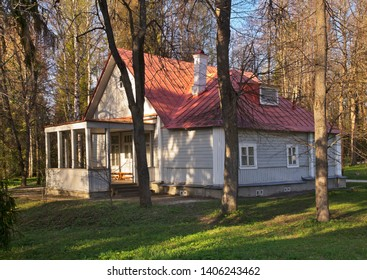 ABRAMTSEVO COLONY. 04. MAY 2019 : Dacha of Polenov at Abramtsevo colony. Russia
