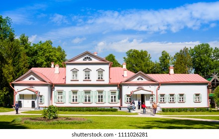"Abramtsevo, Moscow region, Russia - June 12, 2018: Country manor house of the 18th century. State Historical, Artistic and Literary Museum-Reserve ""Abramtsevo"""