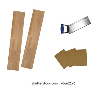 Abrasive sand paper isolated against a white background