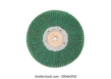 abrasive wheels for metal polishing on white background