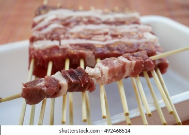 abruzzese mini sheep skewers called arrosticini