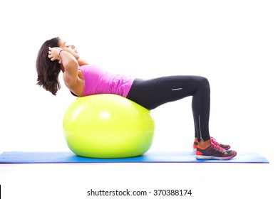 Abs with a fitness ball