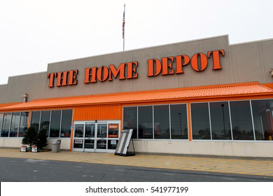 Absecon, NJ, December 11, 2016: Home Depot store and parking lot in front of it.