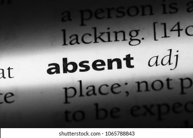 absent word in a dictionary. absent concept.