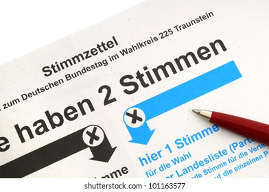 Absentee ballot for the German election