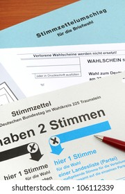 Absentee ballot for the German election (no personal informations, no copyright)