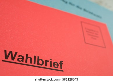 """Absentee ballot in Germany with, prepaid envelope with the German word """"Wahlbrief"""""""