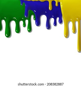 absract background brasil yellow green blue oil