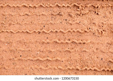 Abstact Background , Tire mark on brown soil and sand