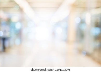 abstact blur image background of shopping mall with crowd people