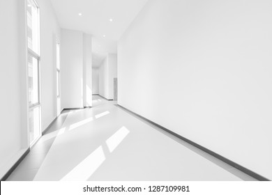 abstact Hallway, black and white hall
