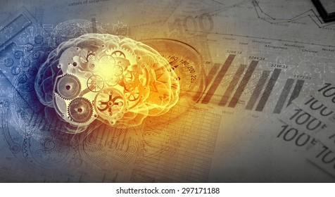 Abstarct image with financial business theme and concepts