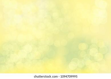 Abstarct yellow green bright gold summer bokeh background.