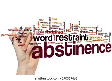 Abstinence word cloud concept