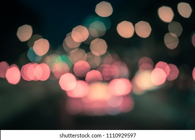 Abstrac bokeh light  on night