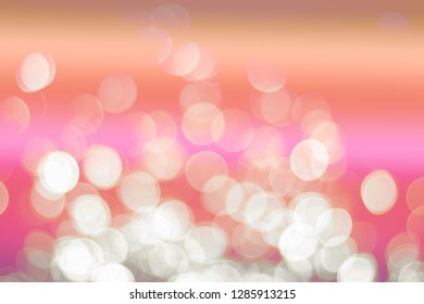 Abstrac white bokeh and colour full background texture.
