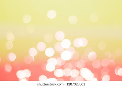Abstrac white bokeh and colour warm full background texture.