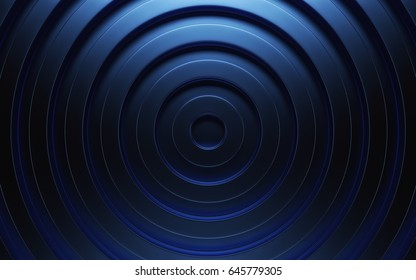 Abstract 3d blue geometric background. Blue texture with shadow. 3D rendering
