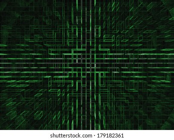An abstract 3D green background