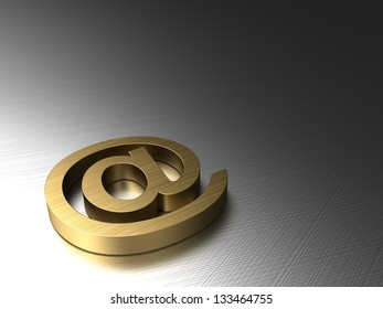 abstract 3d illustration of background with e-mail symbol