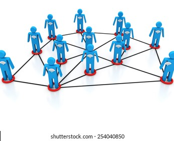the abstract 3d illustration of global people network concept