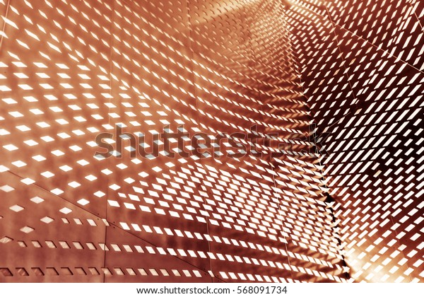 Abstract 3d interior with polygonal pattern on the wall background and texture