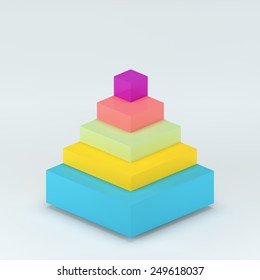 Abstract 3D rende digital business  Infographic