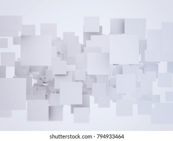 Abstract 3d render squares overlapping